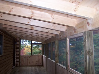 Deckpicts for Timber frame screened porch